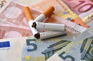 Zigaretten, zerbrochen